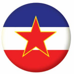 Yugoslavia 1946-1992 Country Flag 25mm Flat Back